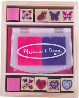 Набор печатей  Бабочки и сердечки , Melissa & Doug, артикул:2401064 - Рисование и раскрашивание