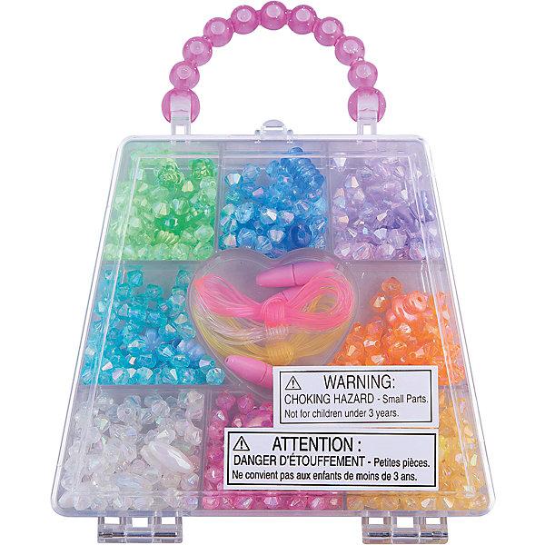 Набор бусин Радужные кристаллы, Melissa &amp; DougНаборы для создания украшений и аксессуаров<br>С помощью Набора бусин Радужные кристаллы, Melissa &amp; Doug (Мелисса и Даг), хранящегося в удобном прозрачном чемоданчике, Вы сможете создать оригинальные браслеты, колье и другие украшения, которые непременно привлекут внимание окружающих. Набор включает более 150 бусин разнообразных форм (круглые, овальные, фигурные, цветочки, конусы), нанизывая которые на декоративные шнурки, девочка без лишних усилий и подготовки сможет собрать необычные украшения для себя, родных и подруг. Мелкие детали способствуют развитию моторики ручек, усидчивости, творческих навыков. <br><br>Комплектация: 500 бусин, шнуры для нанизывания, чемоданчик с отделениями<br><br>Дополнительная информация:<br>-Материал: пластик<br>-Размер упаковки: 2,5х16,5х13 см<br><br>Творческий набор бусин «Радужные кристаллы» станет отличным подарком для девочки и обеспечит ей прекрасное времяпрепровождение.<br><br>Набор бусин Радужные кристаллы, Melissa &amp; Doug (Мелисса и Даг) можно купить в нашем магазине.<br>Ширина мм: 20; Глубина мм: 120; Высота мм: 130; Вес г: 280; Возраст от месяцев: 72; Возраст до месяцев: 120; Пол: Унисекс; Возраст: Детский; SKU: 2401087;