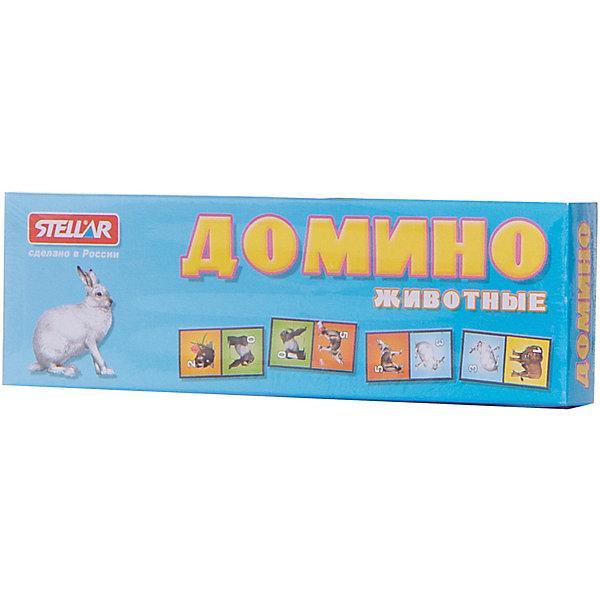 Домино Животные, СтелларДомино<br>Домино 2 Животные от Стеллар (Stellar) — детский аналог традиционной игры Домино. Игра включает комплект пластиковых костяшек домино с изображением  животных и цифр от 0 до 6.<br><br>Красивые картинки помогут ребенку познакомиться с животными, а также с цифрами.<br><br>Подбирая одинаковые картинки, ребенок учится классифицировать предметы. Игра в домино способствует развитию  внимания, логического мышления, ассоциативной памяти. <br><br>Домино «Животные» - прекрасный вариант для проведения семейного досуга!<br><br>Дополнительная информация:<br><br>- В комплекте: 28 фишек<br>- Материал: полистирол, бумага<br>- Размер упаковки: 180 х 20 х 55 мм<br>- Вес: 80 г.<br><br>Домино 2 Животные от Стеллар (Stellar) можно купить в нашем интернет-магазине.<br>Ширина мм: 180; Глубина мм: 20; Высота мм: 55; Вес г: 77; Возраст от месяцев: 36; Возраст до месяцев: 1188; Пол: Унисекс; Возраст: Детский; SKU: 2407030;
