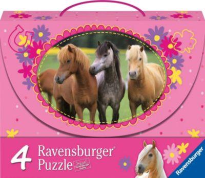 Набор пазлов «Красивые лошади» 2х64 и 2х81 деталей, Ravensburger, артикул:2414729 - Пазлы