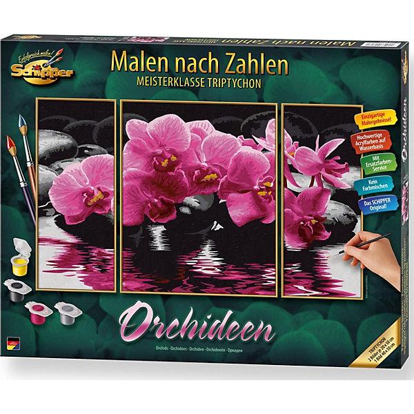 Schipper Картина-триптих по номерам Schipper Орхидеи 50х80 см картины по номерам schipper рапунцель 18х24 см