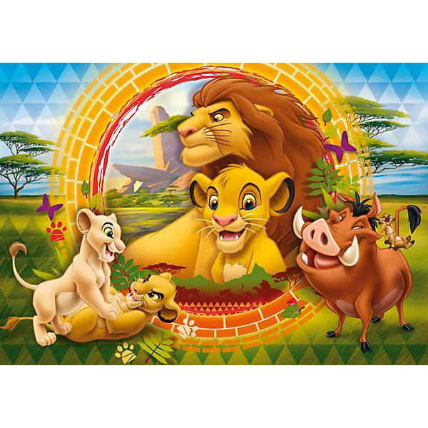 Пазл Король Лев, 24 детали,  ДиснейПазлы для малышей<br>Пазл Король Лев Дисней (Disney) - увлекательный набор для творчества, который будет интересен детям всех возрастов и даже их родителям. С помощью входящих в набор деталей Вы сможете собрать красочную картинку с изображением персонажей из популярного диснеевского мультфильма Король Лев (The Lion King). Пазл изготовлен из прочного картона высокого качества, изображение напечатано на бумаге, не отражающей свет, благодаря чему отчетливо видны все детали картины. Составные элементы пазла отлично соединяются между собой, при этом соединения практически незаметны.<br> <br>Собирание пазла способствует развитию логического мышления, внимания, воображения и мелкой моторики рук.<br><br>Дополнительная информация:<br><br>- Материал: картон, бумага.<br>- Размер собранного пазла: 68 х 48 см.<br>- Размер упаковки: 39,5 х 6,5 х 27,5 см. <br><br>Пазл Король Лев можно купить в нашем интернет-магазине.<br>Ширина мм: 402; Глубина мм: 283; Высота мм: 67; Вес г: 815; Возраст от месяцев: 48; Возраст до месяцев: 72; Пол: Унисекс; Возраст: Детский; Количество деталей: 24; SKU: 2423989;