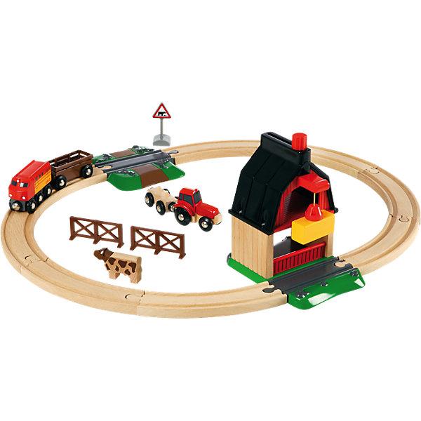 BRIO Железная дорога Brio с переездом и мини-фермой