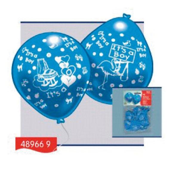цена на Everts Everts 10 шариков с рисунком Рождение малыша (мальчик)