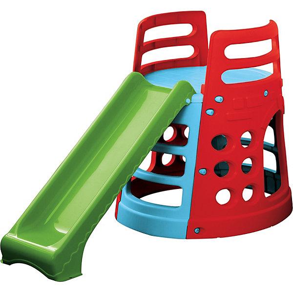 PalPlay Горка - БашняГорки<br>Игровой комплекс  Marianplast  Горка – Башня отлично подойдет для дачи или детской. <br><br>Башня устойчивая, имеет множество отверстий для лазания, которые помогают ребенку с легкостью забираться на нее, а также фактурные ступеньки - для безопасного подъёма.<br>Комплекс легко собирается (инструмент не требуется),  детали соединяются и закрепляются специальными пластиковыми гайками, которые входят в комплект.<br><br>Дополнительная информация:<br><br>- Д*ш*в, см: 100*180.<br>- Площадь 2м2.<br>- Размеры спусковой дорожки: ширина 26 см, длина 150 см<br>- Рекомендуется детям от 1,5 лет.<br>- Горка изготовлена из гипоаллергенной пластмассы, устойчивой к выцветанию. Пластик выдерживает температуру до -18 град. <br><br>Горка-Башня Marian Plast стимулирует малыша к активным действиям и движению, развивает воображение. Яркая и красочная, она обязательно понравится вашему малышу.<br>Ширина мм: 1250; Глубина мм: 900; Высота мм: 340; Вес г: 13500; Возраст от месяцев: 18; Возраст до месяцев: 84; Пол: Унисекс; Возраст: Детский; SKU: 2442775;