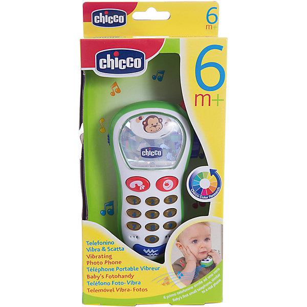 CHICCO Игрушка Фото-телефон музыкальный, с картинками, Chicco телефон ленд ровер все модели фото и цены