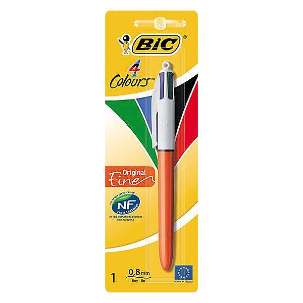 BIC BIC Ручка 4 Колорс классик в блистере bic kids ручка шариковая bp clic girl blu синяя