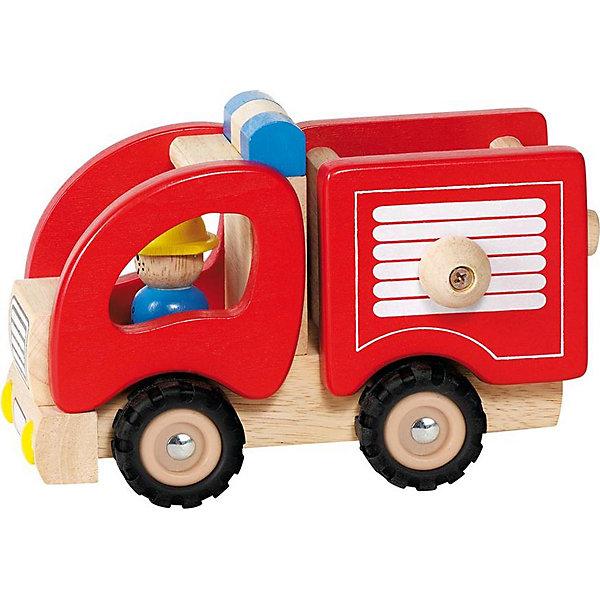 Машинка Пожарная, gokiМашинки<br>Эта яркая машинка приведет в восторг любого малыша, а так же поможет развить крохе мелкую моторику и цветовосприятие. Колеса машины вращаются. Игрушка выполнена из натурального дерева, не имеет острых углов, раскрашена безопасными для детей красителями. <br><br>Дополнительная информация:<br><br>- Материал: дерево, резина.<br>- Колеса подвижные, с резиновым ободом.<br>- Размер: 17 см.<br><br>Машинку Пожарную, goki (Гоки) можно купить в нашем магазине.<br>Ширина мм: 196; Глубина мм: 129; Высота мм: 104; Вес г: 605; Возраст от месяцев: 24; Возраст до месяцев: 60; Пол: Унисекс; Возраст: Детский; SKU: 2499665;