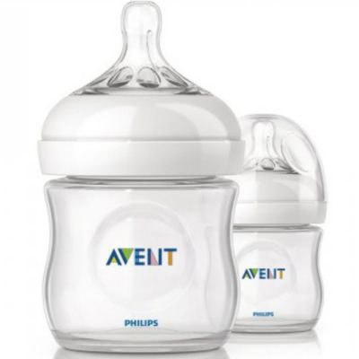 Бутылочки для кормления Natural, 125 мл, медленный поток, 2 шт., AVENT, артикул:2541269 - Кормление малыша