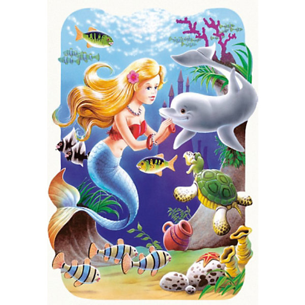 Пазлы Русалочка, 30 деталей, CastorlandПазлы для малышей<br>Пазлы Русалочка, 30 деталей - яркий и красивый пазл-мозаика для детей, созданный по мотивам любимой сказки.<br><br>Дополнительная информация:<br><br>- Кол-во деталей: 30 шт.<br>- Материал: картон.<br>- Размер собранной картинки: 32 х 23 см.<br>- Размеры упаковки: 27,5 х 19 х 3,7 см.<br>Ширина мм: 180; Глубина мм: 40; Высота мм: 130; Вес г: 150; Возраст от месяцев: 36; Возраст до месяцев: 84; Пол: Женский; Возраст: Детский; Количество деталей: 30; SKU: 2562347;