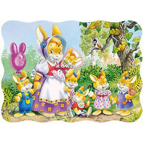 Castorland Пазл Семья кроликов, 30 деталей, Castorland beleduc развивающий пазл яблоко 30 деталей