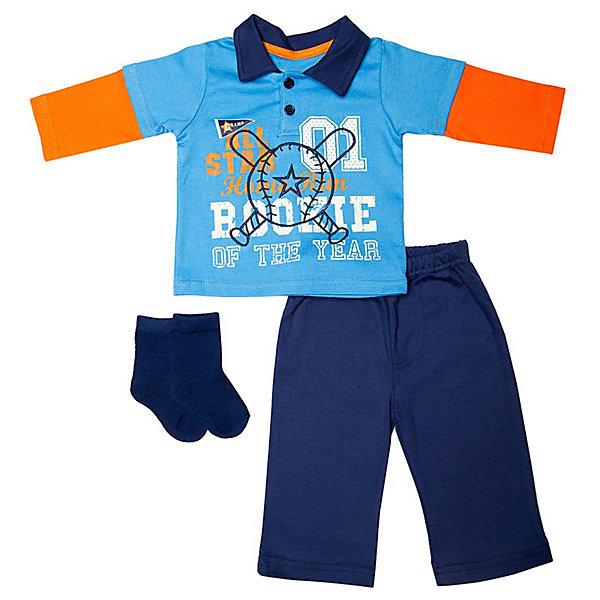 Купить bon Bebe Комплект Жакет с капюшоном, боди с коротким рукавом и штанишки, 3 предмета,   для мальчика (2580097) в Москве, в Спб и в России