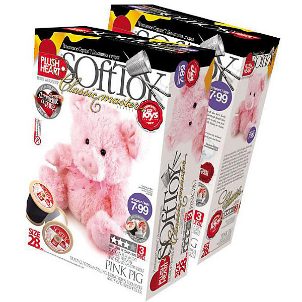 Фантазер Plush heart Свинка розовая фантазер набор полосатый котенок plush heart