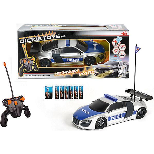Dickie Toys Полицейский патруль на р/у, 28см, Dickie машинка трансформеры перевертыш dickie bumblebee на р у 1 16 25см