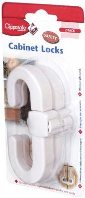 Фото - Clippasafe Защитный замок для створчатых дверей блокатор межкомнатных дверей clippasafe