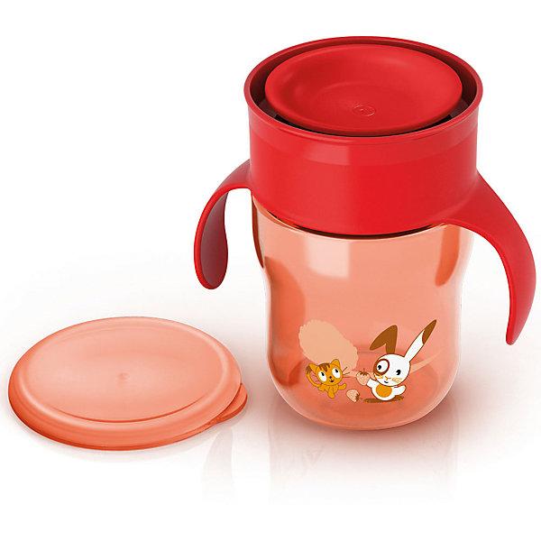 Поильник-чашка , 260мл, AVENT, красный