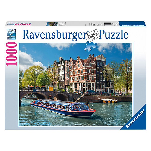 Ravensburger Пазл Каналы Амстердама Ravensburger, 1000 деталей