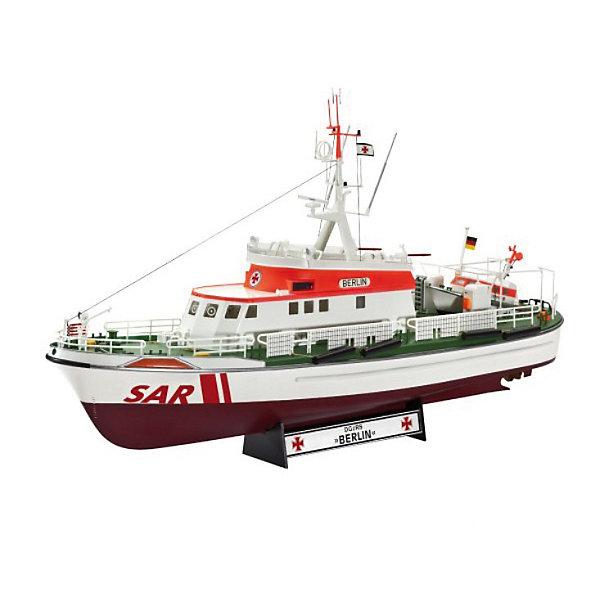 Спасательный катер Немецкой ассоциации по спасению потерпевших кораблекрушение DGzRS Berlin (в честьКорабли и подводные лодки<br>Характеристики товара:<br><br>• возраст: от 10 лет;<br>• цвет: белый;<br>• масштаб: 1:72<br>• количество деталей: 208 шт;<br>• материал: пластик;<br>• клей и краски в комплект не входят;<br>• длина модели: 38,2 см;<br>• бренд, страна бренда: Revell (Ревел),Германия;<br>• страна-изготовитель: Польша.<br><br>Сборная модель для склеивания «Поисково-спасательный катер немецкой организации DGzRS» поможет вам и вашему ребенку придумать увлекательное занятие на долгое время. <br><br>Набор включает в себя 208 пластиковых элементов, из которых можно собрать достоверную уменьшенную копию одноименного спасательного катера. В комплект также входит схематичная инструкция.<br><br>Модель представляет собой копию поисково-спасательного катера немецкой организации DGzRS. С момента своего образования в 1865 году, члены спасательной службы DGzRS помогли более 76 000 людям, попавшим в опасные ситуации. Спасательные работы организации финансируются из благотворительных пожертвований. <br> <br>Процесс сборки развивает интеллектуальные и инструментальные способности, воображение и конструктивное мышление, а также прививает практические навыки работы со схемами и чертежами. <br><br>Обращаем ваше внимание на тот факт, что для сборки этой модели клей и краски в комплект не входят. <br><br>Сборную модель для склеивания «Поисково-спасательный катер немецкой организации DGzRS», 208 дет., Revell (Ревел) можно купить в нашем интернет-магазине.<br>Ширина мм: 445; Глубина мм: 250; Высота мм: 114; Вес г: 641; Возраст от месяцев: 96; Возраст до месяцев: 156; Пол: Мужской; Возраст: Детский; SKU: 3000654;