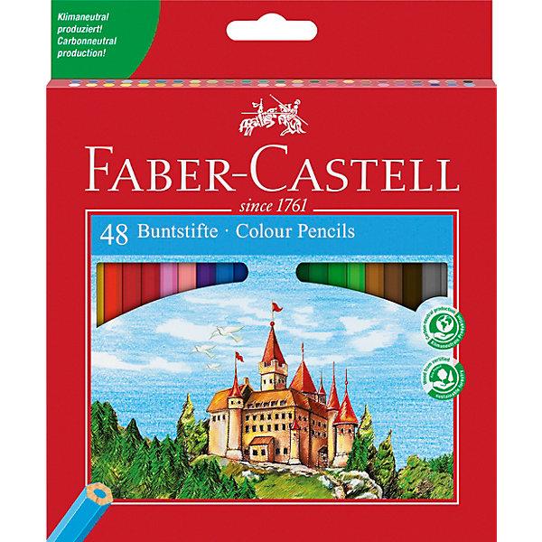 Faber-Castell Карандаши цветные Faber-Castell, 48 цветов, с точилкой