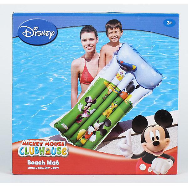 Матрас для плавания Клуб Микки-Мауса, BestwayМатрасы и лодки<br>Матрас надувной, Disney, Bestway - замечательный вариант для безопасного и комфортного отдыха на воде. Матрас изготовлен из прочного материала и имеет удобный подголовник и две воздушные камеры. Выполнен в яркой расцветке и украшен красочными изображениями знакомых персонажей из диснеевских мультфильмов о мышонке Микки-Маусе.<br><br>Дополнительная информация:<br><br>- Материал: ПВХ.<br>- Размер матраса: 119 х 61 см.<br>- Размер упаковки: 28 x 27,4 x 3,8 см.<br>- Вес: 0,465 кг.<br><br>Матрас надувной, Disney, Bestway (Бествей) можно купить в нашем интернет-магазине.<br>Ширина мм: 280; Глубина мм: 270; Высота мм: 40; Вес г: 1350; Возраст от месяцев: 36; Возраст до месяцев: 84; Пол: Унисекс; Возраст: Детский; SKU: 3176936;