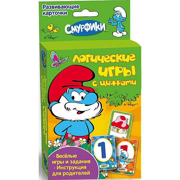 Развивающие карточки Логические игры, СмурфикиОбучающие карточки<br>Развивающие карточки Логические игры, Смурфики<br><br>Характеристики:<br>• Возраст: от 3 лет<br>• Состав: бумага, картон<br>• Размер упаковки: 16,5х9х2<br>• 36 карточек<br><br>Развивающие карточки порадуют ребенка любимыми персонажами из мультсериала «Смурфики». Набор состоит из 36 карточек и руководства для родителей. Вы сможете подобрать игру (найти сходства или различия, распределить карточки в нужном порядке и другие), в которую будет интересно и весело играть вашему малышу. Кроме различных логических игр ребенок найдет в коробке интересные задания. <br><br>Развивающие карточки Логические игры, Смурфики можно купить в нашем интернет-магазине.<br>Ширина мм: 130; Глубина мм: 92; Высота мм: 22; Вес г: 140; Возраст от месяцев: 36; Возраст до месяцев: 72; Пол: Унисекс; Возраст: Детский; SKU: 3177440;