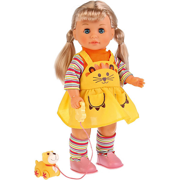 Карапуз Кукла Карапуз c щенком на поводке, 40 см куклы карапуз кукла карапуз принцесса рапунцель 25 см