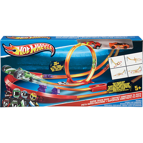 Mattel Конструктор трасс Hot Wheels Супер набор mattel hot wheels dwk98 хот вилс трасса
