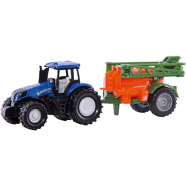 SIKU Трактор с прицепом, SIKU трактор tomy john deere зеленый 19 см с большими колесами звук свет