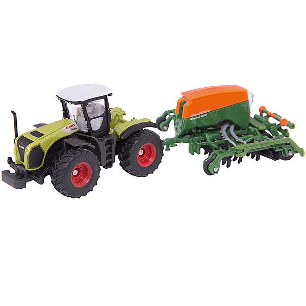 SIKU Трактор с сеялкой, SIKU siku siku 1312 садовый трактор газонокосилка 1 32
