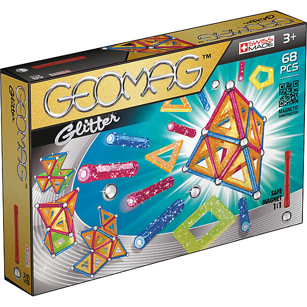 Geomag Магнитный конструктор Geomag Glitter, 68 деталей free shipping 5pcs lot isl6566crz isl6566cr isl6566 laptop p new original