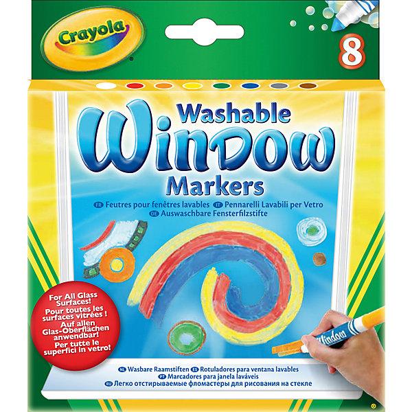 Crayola Смываемые маркеры для рисования на стекле, 8 штук,