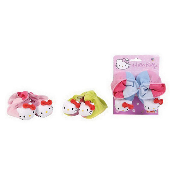 Simba Hello Kitty Тапочки-погремушки, размер 13 см, от 0-го месяца обувь и пинетки simba тапочки погремушки hello kitty