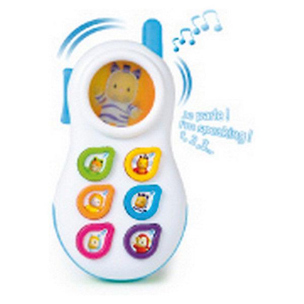 Smoby Cotoons Телефон со светом и звукомИнтерактивные игрушки для малышей<br>Телефон Smoby Cotoons - это игрушка со светом и звуком, которая может стать первым телефоном в жизни Вашего малыша. Форма телефона специально разработана так, чтобы его удобно было держать в маленьких ручках. Яркий, приятный на ощупь, выполненный из качественных материалов. Телефон на выбор предлагает 3 языка- русский, английский, китайский , так что малыш получит первое представление об иностранных языках и сможет запомнить несколько слов из них. Антенна телефона светится, ее можно использовать как прорезыватель. А на маленьком дисплее малыша приветствует Панки, который, то прячется, то выскакивает из укрытия (голограмма).  <br>Есть 6 кнопочек с цветной рамкой и изображением карапуза Котунс:<br> - кнопочка 1 с зеленой рамкой и изображением лягушонка Вабап;<br> - кнопочка 2 с желтой рамкой и портретом пчелки Зум;<br> - кнопочка 3 с оранжевой рамкой - львенок Тюлип;<br> - кнопочки 4 с синей рамкой - зебра Панки;<br> - кнопочка 5 с красной рамкой - гусеничка Чоувинг;<br> - кнопочка 6 с фиолетовой рамкой - обезьянка Моки;<br> при первом нажатии называется цифра, при втором - цвет, третьем - приветствие карапуза или забавный звук; <br>при отсутствии действий с игрушкой предусмотрено автоматическое отключение (примерно через 20 секунд): через некоторое время телефон сам звонит, приглашая малыша продолжить игру, затем говорит «Пока!» и отключается.<br>Телефон стимулирует развитие тактильных навыков и сенсорного восприятия. <br><br>Дополнительная информация:<br><br>- цвета : розовый, голубой<br>- материал: высококачественная пластмасса<br>- размер игрушки: 15х8х2 см.<br>- размер упаковки: 14х5х21 см.<br>- вес: 0,22 кг.<br><br>Телефон Smoby Cotoons можно купить в нашем интернет-магазине<br>Ширина мм: 140; Глубина мм: 50; Высота мм: 210; Вес г: 220; Возраст от месяцев: 6; Возраст до месяцев: 36; Пол: Унисекс; Возраст: Детский; SKU: 3246469;