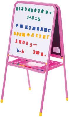 Розовый двусторонний мольберт с буквами, Дэми, артикул:3247890 - Рисование и раскрашивание