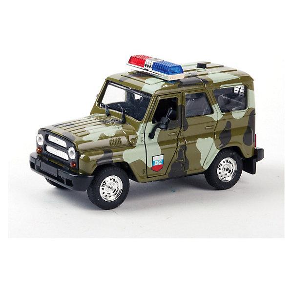 Фотография товара тЕХНОПАРК Машина УАЗ hunter военная, с сиреной и мигалками (3261694)