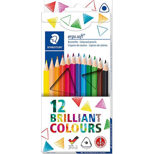 Staedtler Staedtler Карандаши Цветные Ergosoft трехгранные 157, 12 цв. staedtler staedtler акварельные карандаши ergosoft 12 цветов