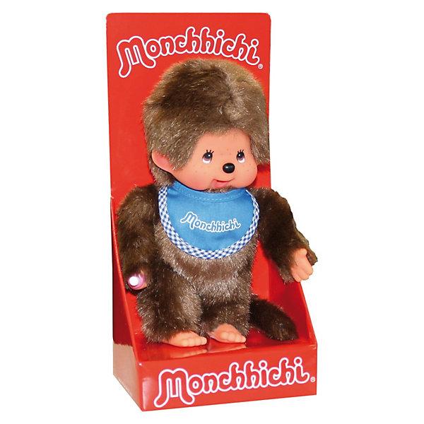 Monchhichi Мягкая игрушка Monchhichi Мончичи, мальчик в синем слюнявчике, 20 см