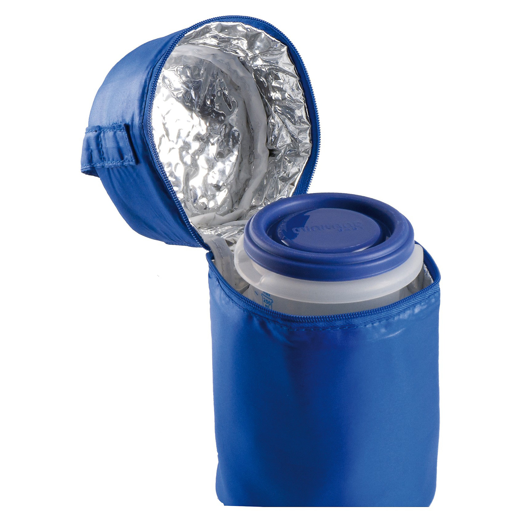 Термосумка с 2-мя мерными стаканчиками, HERMISIZED, синий (Miniland)