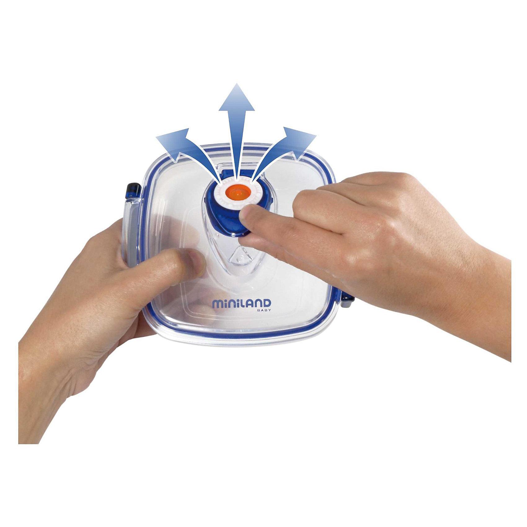 Miniland Термосумка с 2-мя вакуумными контейнерами, HERMIFRESH, синий