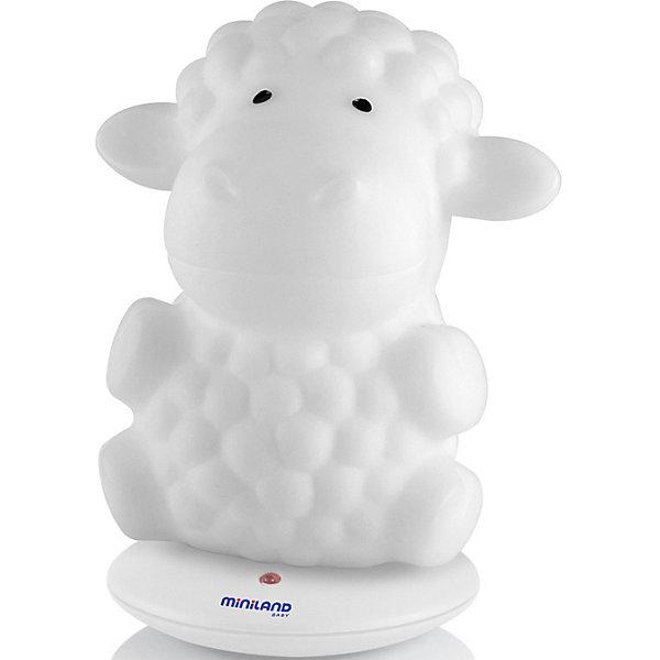 Ночник Miniland Night Sheep, Китай, белый, Унисекс  - купить со скидкой