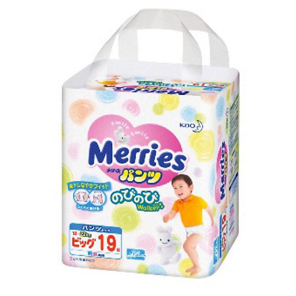 Фотография товара трусики-подгузники для детей Merries, XL 12-22 кг, 19 шт. (3295621)