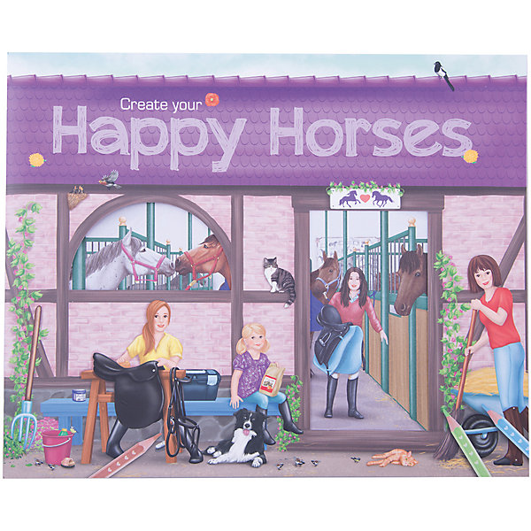 Depesche Альбом с наклейками Create your Happy Horses, Creative Studio