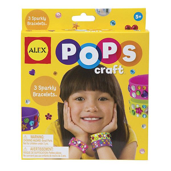 ALEX Набор для творчества POPS CRAFT Создай 3 блестящих браслета со стразами ALEX alex alex набор для творчества объемные аппликации из бумажных шариков малышам