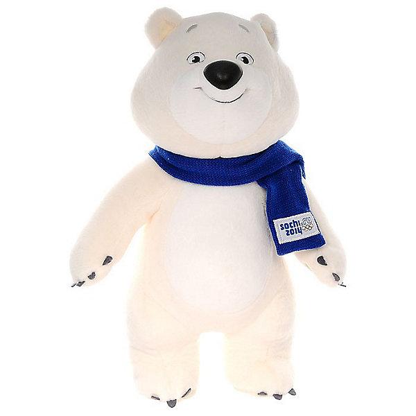 Белый мишка 32см, Сочи 2014Мягкие игрушки животные<br>Белый мишка 32см с логотипом олимпиады Сочи 2014 - обязательно вам понравится!<br>  <br>Немного о жизни героя Олимпиады: за полярным кругом в ледяном доме живет Белый Мишка. В этом доме все сделано изо льда и снега: снежный душ, кровать, компьютер и даже спортивные тренажеры. <br>   Белый Мишка с раннего детства воспитывался полярниками. Именно они научили его кататься на лыжах, бегать на коньках и играть в керлинг. Но больше всего Белому Мишке нравиться кататься на спортивных санках: сейчас он уже настоящий саночник и бобслеист, а его друзья - тюлени и морские котики - с удовольствием наблюдают за его победами. Теперь они вместе устраивают соревнования по этим видам спорта, поэтому долгой полярной ночью им некогда скучать.<br><br>Дополнительная информация:<br><br>- Размер игрушки: 32 см.<br>- Материал: искусственный мех, текстиль<br><br> Каждый, даже тот, кому не удалось побывать на Олимпиаде, будет рад получить в подарок очаровательный памятный сувенир.<br><br>Белого мишку 32см, Sochi 2014.ru - можно купить в нашем интернет - магазине.<br>Ширина мм: 320; Глубина мм: 180; Высота мм: 120; Вес г: 300; Возраст от месяцев: 36; Возраст до месяцев: 119988; Пол: Унисекс; Возраст: Детский; SKU: 3311240;