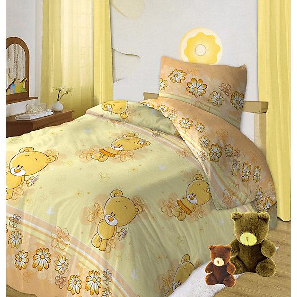 Детское постельное белье 3 предмета Кошки-мышки, Мишутки, желтыйПостельное белье в кроватку новорождённого<br>Постельное белье детское Мишутки, Кошки-Мышки с изображением любимых героев подарит Вашему малышу самые приятные сны!<br><br>Постельное белье ТМ Кошки-мышки изготовлено исключительно из высококачественной бязи российского производства. <br>В производстве используются качественные красители, что позволяет сохранять яркость цвета на протяжении всего времени эксплуатации изделий. <br>Ткани не вызывают аллергических реакций, обладают высокой гигроскопичностью и воздухопроницаемостью. <br>Создание коллекций с использованием дизайнов Российских художников. Вся продукция имеет стильную, удобную и уникальную упаковку, которая в свое время обеспечивает сохранность продукции в процессе ее транспортировки и хранения. Ткани и готовые изделия производятся на современном импортном оборудовании и отвечают европейским стандартам качества. <br><br>Дополнительная информация:<br>-Комплектация и размеры:<br>пододеяльник 112х147 - 1 шт. <br>простыня 110х150 - 1 шт.<br>наволочка 40х60 - 1 шт.<br><br>Красочные дизайны и яркие цветовые решения вызовут у Вашего ребенка бурю положительных эмоций!<br>Ширина мм: 240; Глубина мм: 260; Высота мм: 50; Вес г: 800; Возраст от месяцев: 0; Возраст до месяцев: 36; Пол: Унисекс; Возраст: Детский; SKU: 3320143;