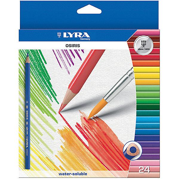 Цветные акварельные карандаши треугольной формы, 24 шт.Карандаши<br>Цветные акварельные карандаши, 24 шт.  Треугольной формы. Диаметр грифеля 3,3 мм. Экономичная линейка карандашей<br>Ширина мм: 217; Глубина мм: 192; Высота мм: 12; Вес г: 187; Возраст от месяцев: 60; Возраст до месяцев: 192; Пол: Унисекс; Возраст: Детский; SKU: 3322933;