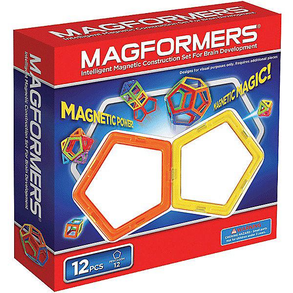 Купить Магнитный конструктор, 12 деталей, MAGFORMERS, Корея, Унисекс