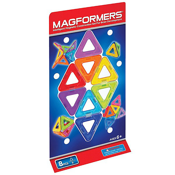 MAGFORMERS Магнитный конструктор Треугольники, 8 деталей, MAGFORMERS