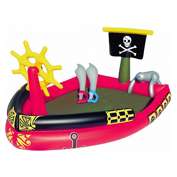 Bestway Детский игровой бассейн Пираты, Bestway бассейн детский bestway 57326 надувной 152х38см 477л с брызгалкой