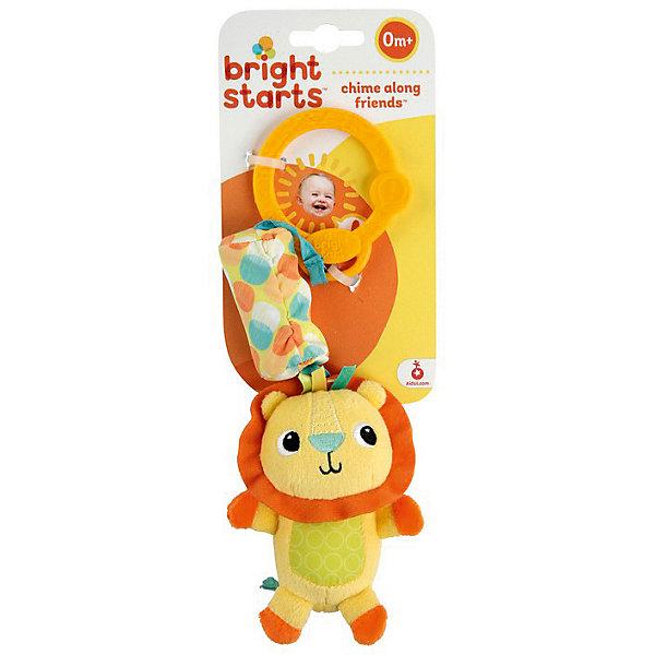 Развивающая игрушка  Львёнок, Bright StartsИгрушки для новорожденных<br>Развивающая игрушка-подвеска Львёнок станет прекрасным развлечением малыша, ведь на подвеске найдутся забавные друзья звенящие колокольчики. Ребёнок полюбит этих мягких друзей и счастливый звон, который они издают! Яркие герои с различными текстурами Легко крепится на коляску, переноску или кроватку.<br><br>Дополнительная информация:<br><br>- размер игрушки: 8 х 5,5 х 13,5 см.<br>- размер упаковки: 11,5 х 7,5 х 19 см.<br>- материал: высококачественная пластмасса, текстиль.<br><br>Развивающую игрушку  Львёнок можно купить в нашем интернет магазине.<br>Ширина мм: 90; Глубина мм: 288; Высота мм: 30; Вес г: 76; Возраст от месяцев: 3; Возраст до месяцев: 24; Пол: Унисекс; Возраст: Детский; SKU: 3345353;